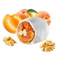 Apricot in yoghurt glaze with walnut