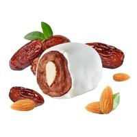 Dates in yoghurt glaze with almond